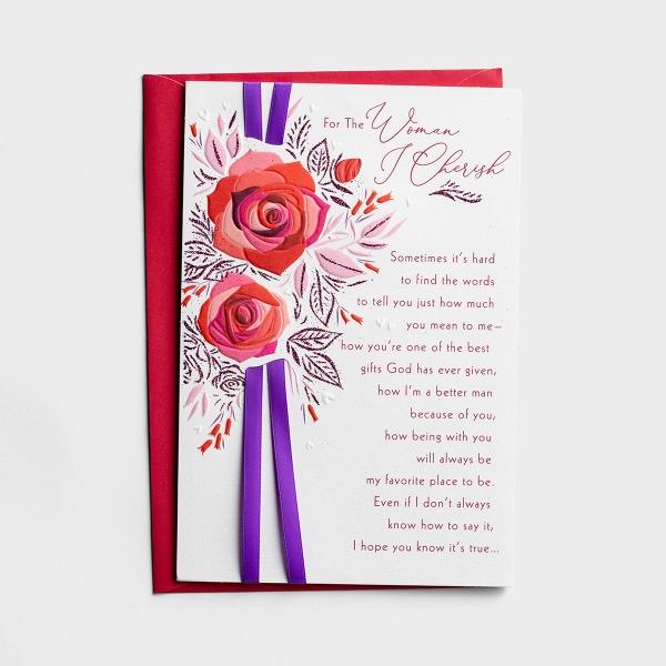 Valentine's Day - Wife - Cherished Woman - 1 Card