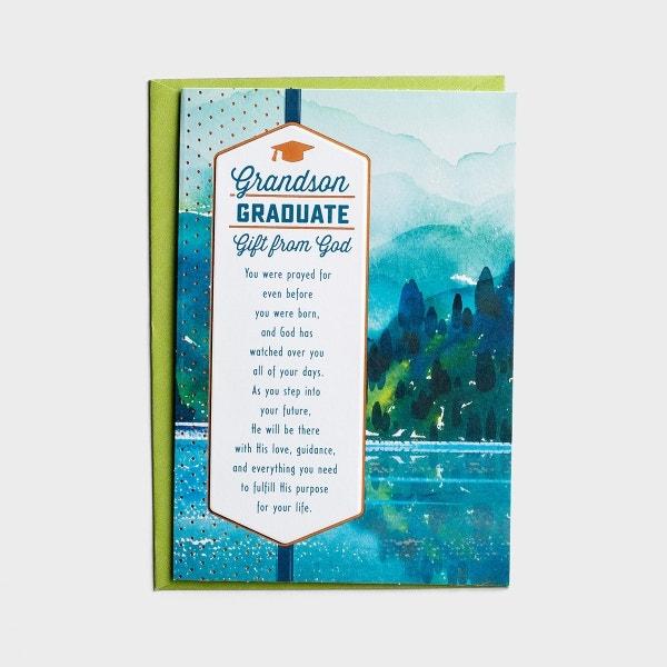 Graduation - Grandson - Gift from God - 1 Card