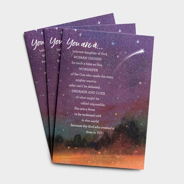 Graduation - For Her - A Beloved Daughter of God - 3 Premium Cards