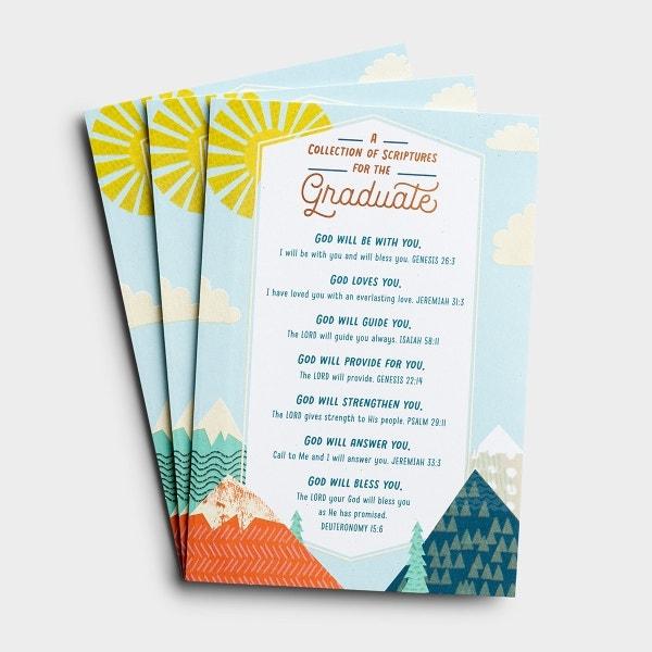 Graduation - A Collection of Scriptures - 3 Premium Cards