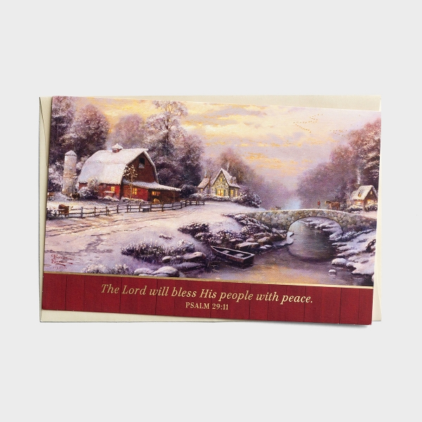 Thomas Kinkade - The Lord Will Bless His People - 18 Christmas Boxed Cards