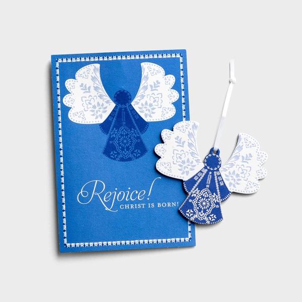 Rejoice, Christ is Born - 6 Premium Christmas Boxed Ornament Cards