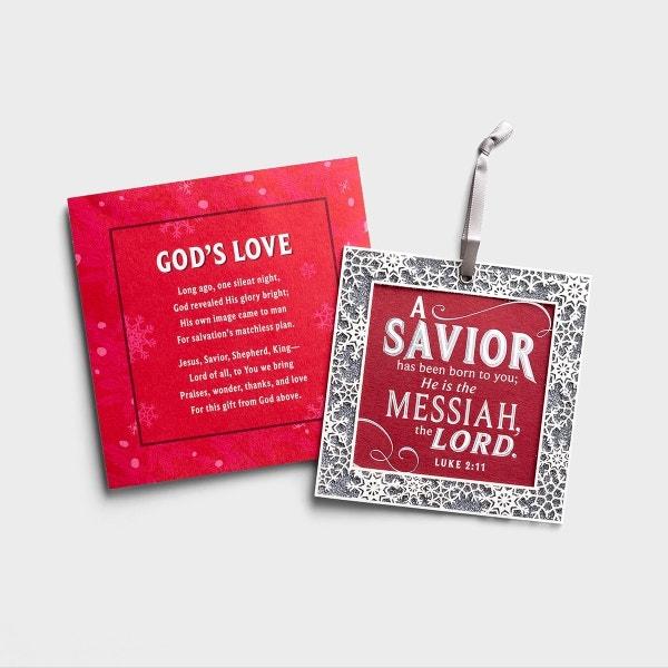 God's Love - 6 Premium Christmas Boxed Ornament Cards