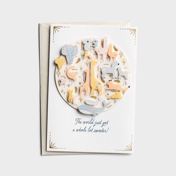 Baby - The World Just Got Sweeter - 1 Premium Card