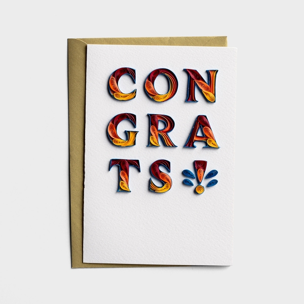 Congratulations - So Happy For You - 1 Premium Card
