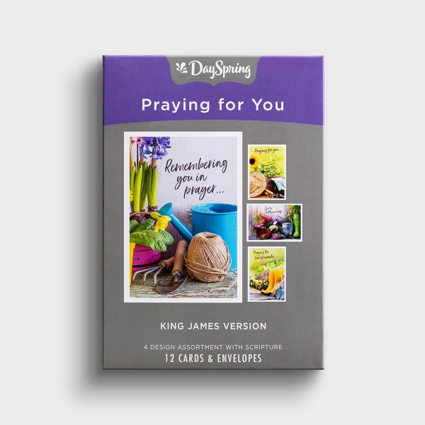 Praying for You - Gardening - 12 Boxed Cards, KJV