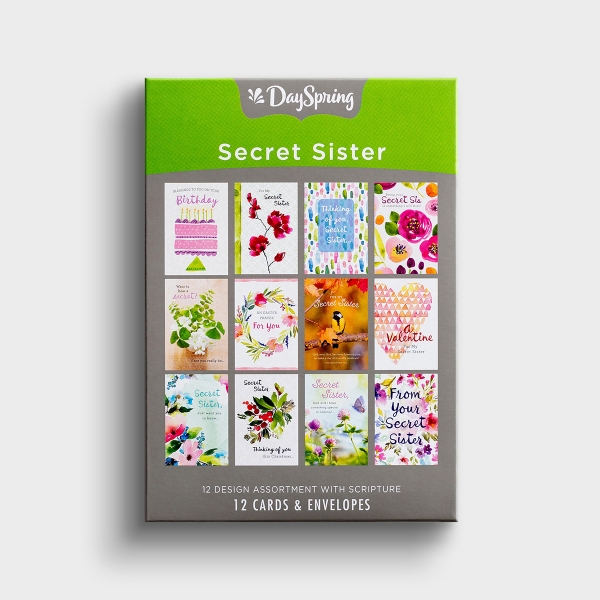 Secret Sister - Sweet Messages - 12 Boxed Cards