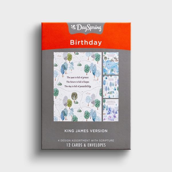 Birthday - Camping Fun - 12 Boxed Cards, KJV