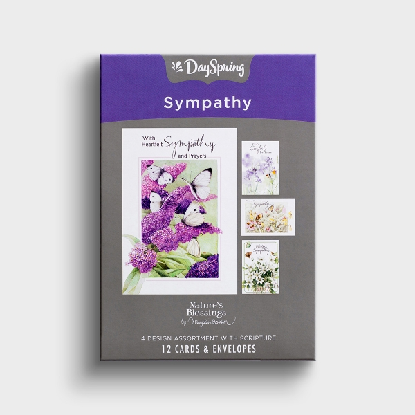 Nature's Blessings - Sympathy - Butterflies - 12 Boxed Cards