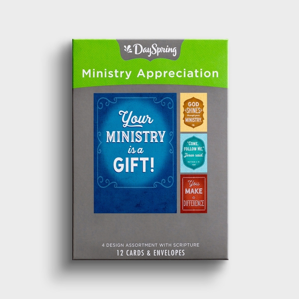 Ministry Appreciation - Bold Messages - 12 Boxed Cards