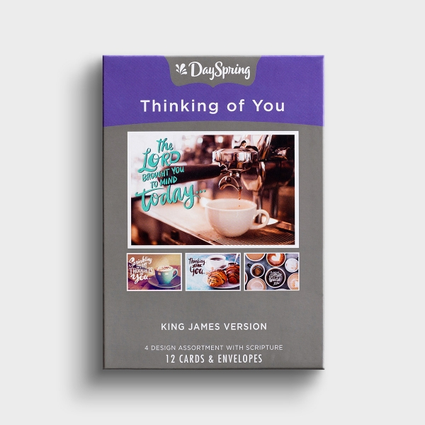 Thinking of You - Coffee House - 12 Boxed Cards, KJV