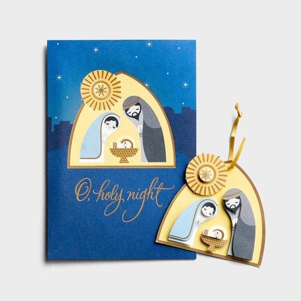 Christmas - Nativity - Premium Card with Detachable Ornament, KJV