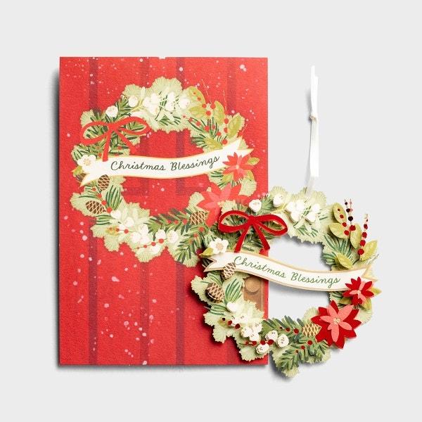 Christmas - Wreath - Premium Card with Detachable Ornament