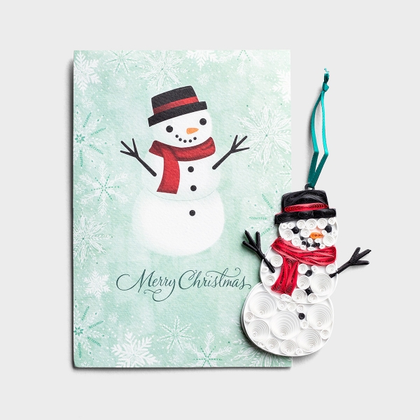 Christmas - Snowman - Premium Card with Detachable Ornament