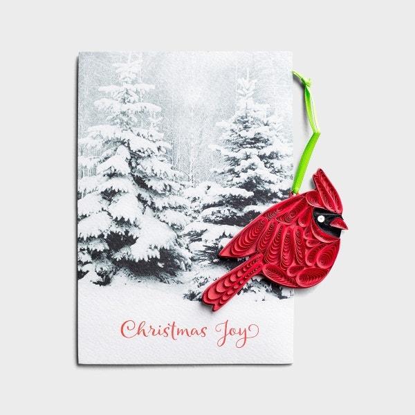 Christmas - Cardinal - Premium Card with Detachable Ornament