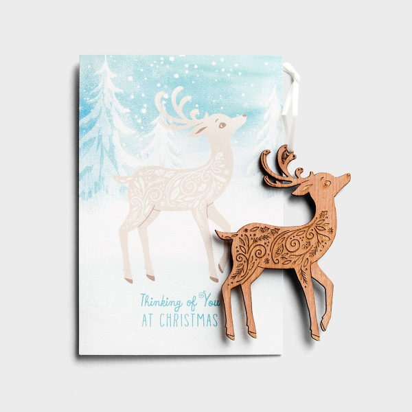 Christmas - Deer - Premium Card with Detachable Ornament