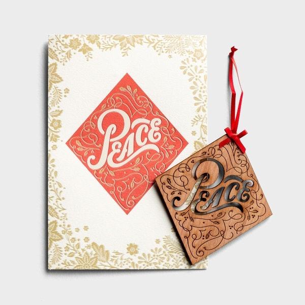 Christmas - Peace - Premium Card with Detachable Ornament
