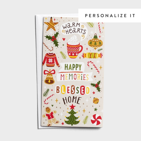 Little Inspirations - Warm Hearts - 16 Christmas Boxed Cards, KJV