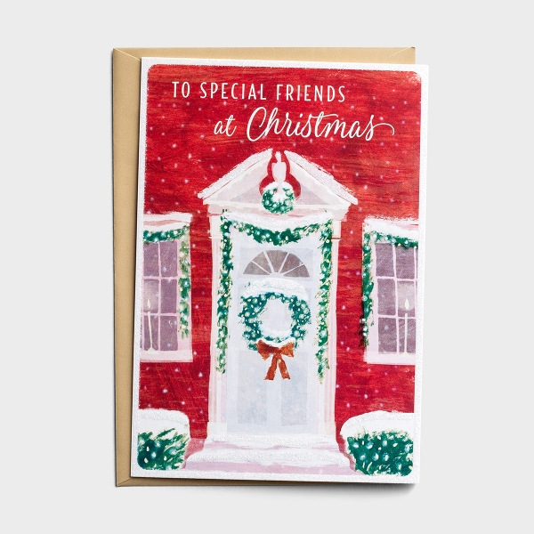 Holiday Wreath - For Special Friends - 18 Christmas Boxed Cards