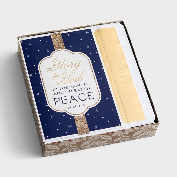 Glory to God - 18 Christmas Boxed Cards, KJV
