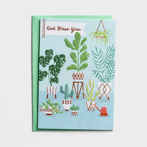 Thank You - God Bless You - 1 Card