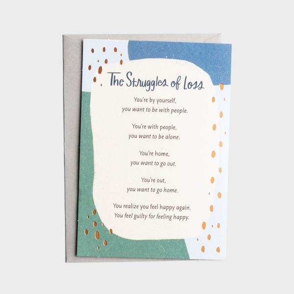 The Struggle Bus - Everyday Empathy - Loss & Grief - 1 Greeting Card