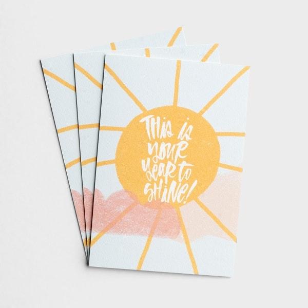 Katygirl - Birthday - Year to Shine - 3 Premium Cards