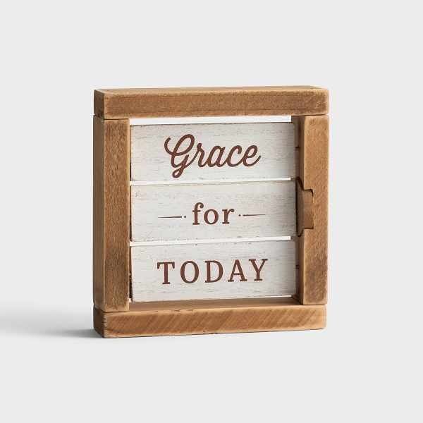 Grace For Today - Reversible Tabletop Décor