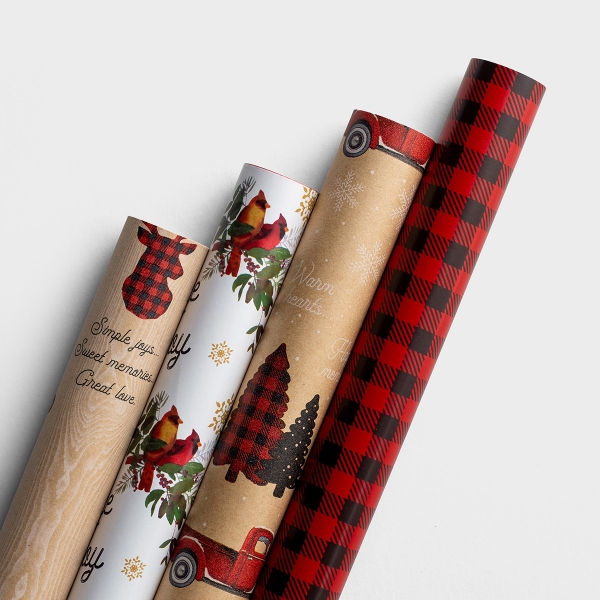 A Cozy Christmas - Reversible Christmas Wrapping Paper Bundle