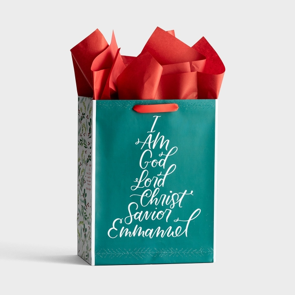 Names of Jesus - Large Christmas Gift Bag with Tissue Paper