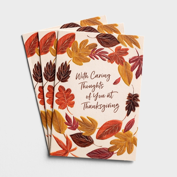 Difficult Thanksgiving - Caring Thoughts - 3 Greeting Cards