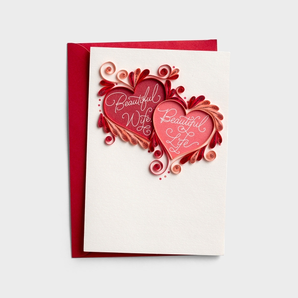 Valentine's Day - Wife - Beautiful Life - 1 Premium Card