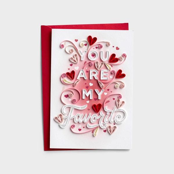 Valentine's Day - One I Love - My Favorite - 1 Premium Card