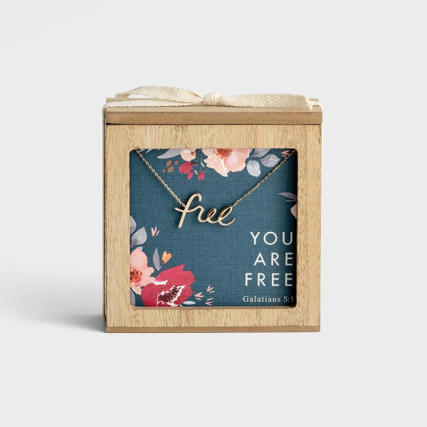 Studio 71 - You Are Free - Necklace and Promise Box Gift Set