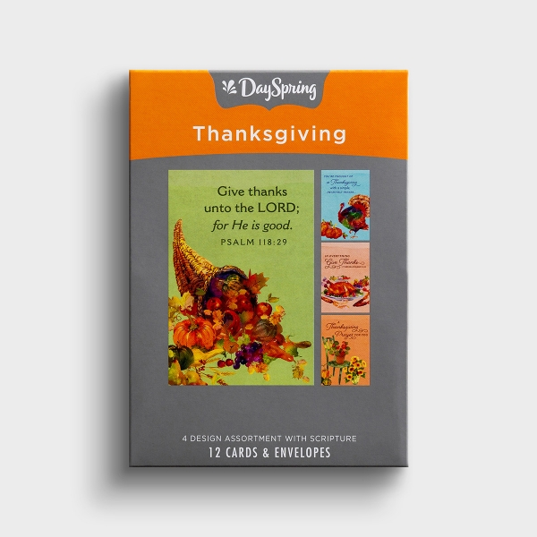 Thanksgiving - Prayers - 12 Boxed Cards
