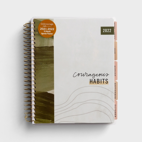 (in)courage - Courageous Habits - 2021-2022 18-Month Agenda Planner