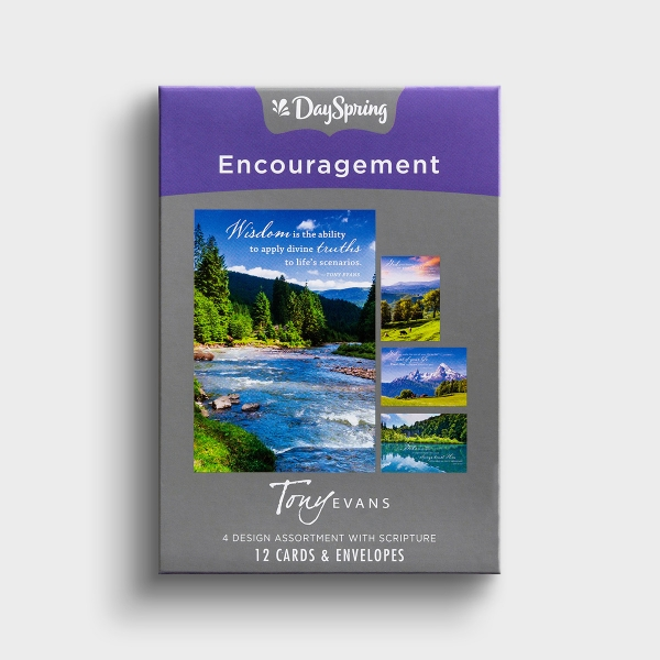 Tony Evans - Encouragement - Mountain Views - 12 Boxed Cards