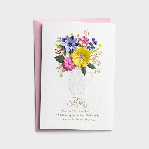 Mother's Day - Bless Each Life You Touch - 1 Premium Card