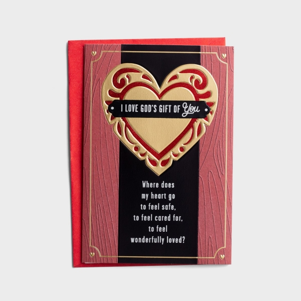 Valentine's Day - Husband - God's Gift of You - 1 Greeting Card