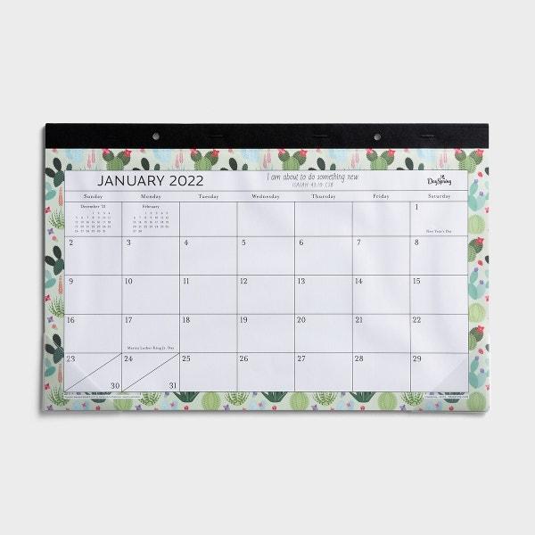 Succulents - 2022 Deskpad Calendar