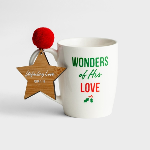 Wonders of His Love - Christmas Mug with Ornament