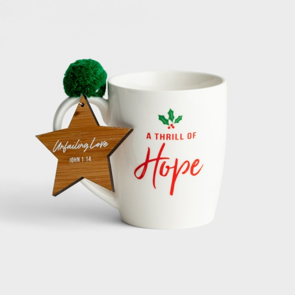 A Thrill of Hope - Christmas Mug with Ornament