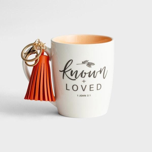 Known & Loved - Mug with Tassel Keychain