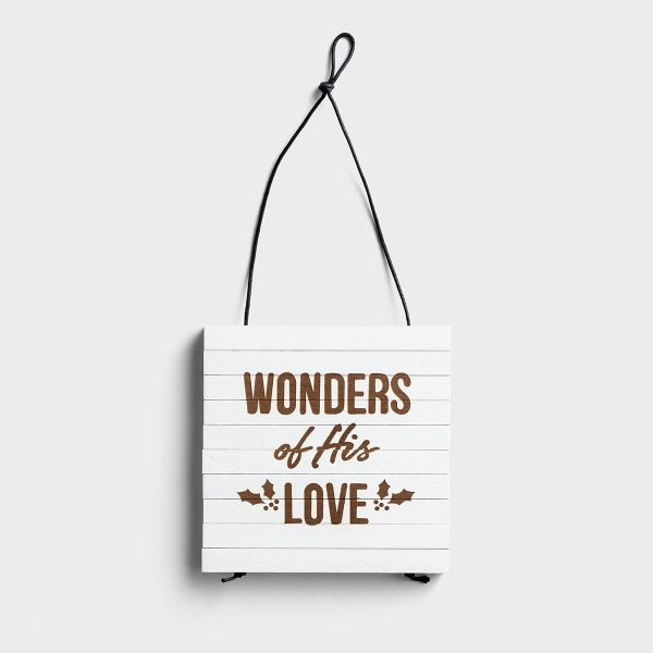 Thankful + Blessed/Wonders of His Love - Expandable Trivet, Reversible
