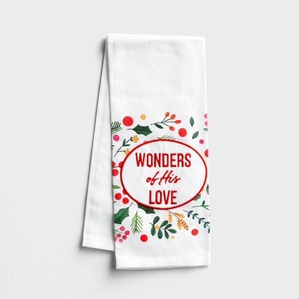 Wonders of His Love - Christmas Tea Towel