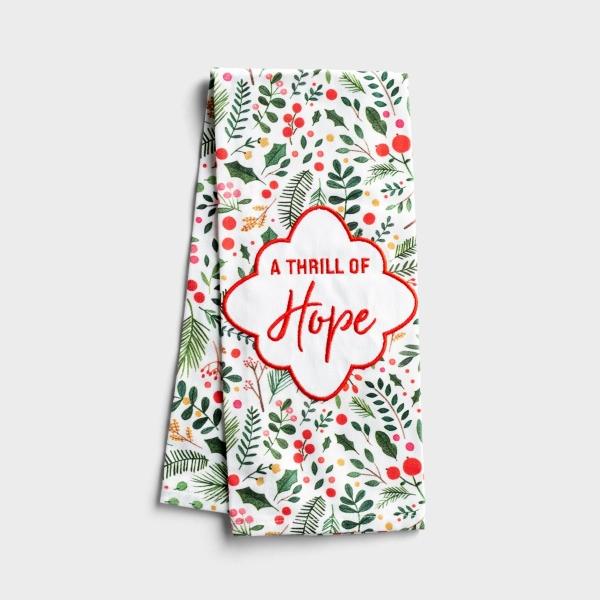 A Thrill of Hope - Christmas Tea Towel