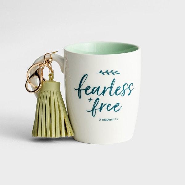 Fearless & Free - Mug with Tassel Keychain