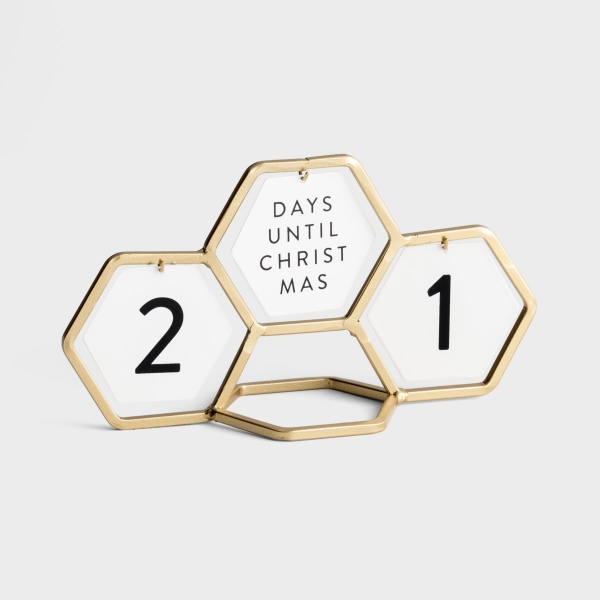 Candace Cameron Bure - Geometric Countdown Calendar with 8 Interchangeable Messages - Gold