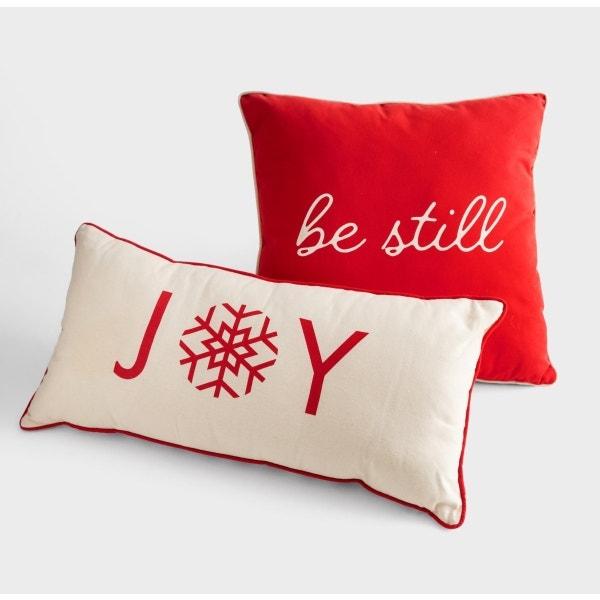 Candace Cameron Bure - Joy & Be Still - Christmas Pillow Set