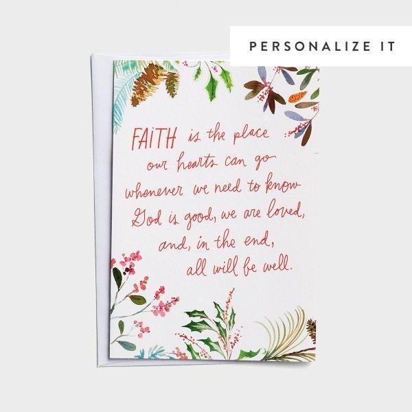Good Steward - Faith is the Place - 18 Christmas Boxed Cards